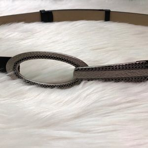 Chico's leather belt adjustable to 37""